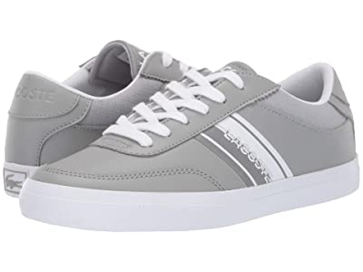 Lacoste Kids Court-Master 319 1 (Little Kid/Big Kid) (Grey/White) Kid