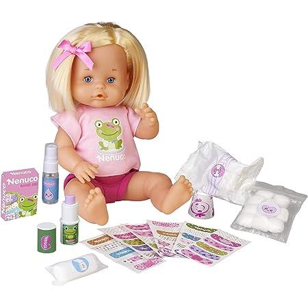 Nenuco - Cura Sana, muñeca para Jugar a los médicos con tu bebé, con tiritas de Colores y el Kit médico para Curar a la muñeca, Juguete indicado para niños y niñas de 3 años, Famosa (700016256)