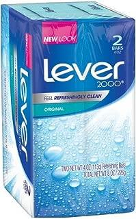 Lever 2000 Original Refreshing Bar Soap, Perfectly Fresh 4 oz, 2 ea (Pack of 5)