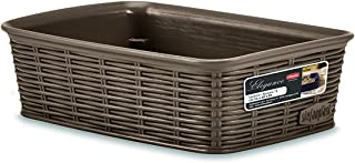 Stefanplast Elegance Basket, Dove Grey, Small/20 x 14 x 6 cm
