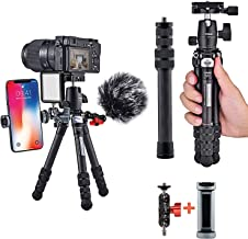 Carbon Fiber Tripod, COMAN Ultra Compact Lightweight Camera Tripod with 360° Panorama Ball Head for Cellphone, Camera and ...