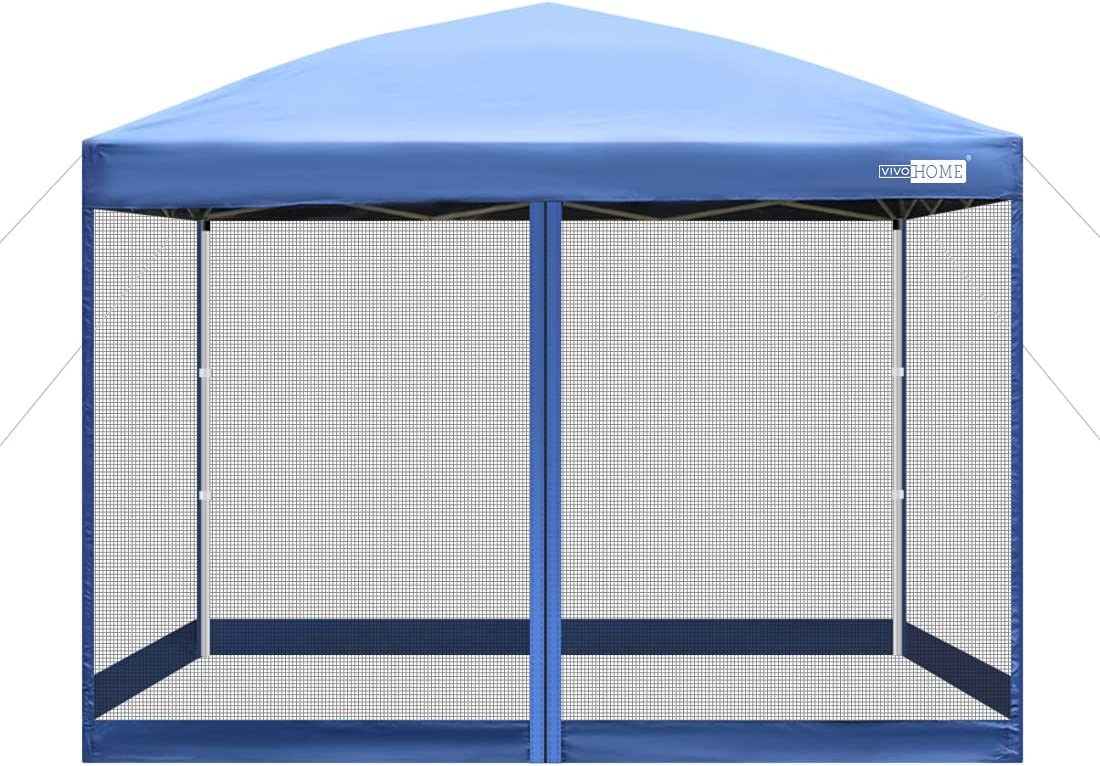 VIVOHOME 210D Oxford Outdoor Free Shipping New Easy Pop Up Party Canopy Special price Ten Screen