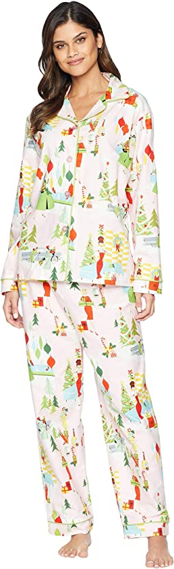 Merry Moderns Flannel Pajama Set