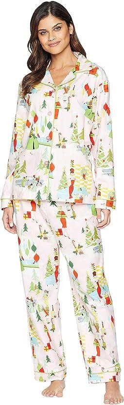 Merry Moderns Flannel Pajama Set