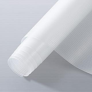 Puroma Shelf Liner, Non-Adhesive Cabinet Liner, EVA Refrigerator Mat Waterproof Kitchen Liner, 12 Inch x 20 FT Non-Slip Dr...