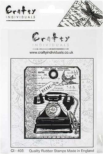 tienda de ventas outlet Crafty Crafty Crafty Individuals Furbo individui timbro di Gomma smontata 4,75 X 7  Tag Pkg-Grojo telefono Vintage  compras en linea