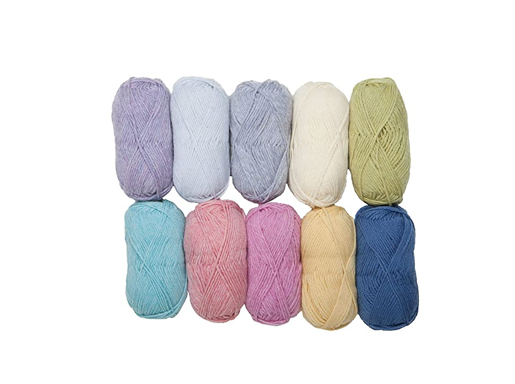 Knit Picks Wool of The Andes Worsted Weight Yarn (10 Balls - Soft)
