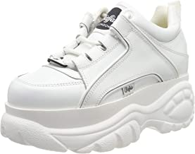 1329 14 Nappa Blanco   White leather Buffalo London girls