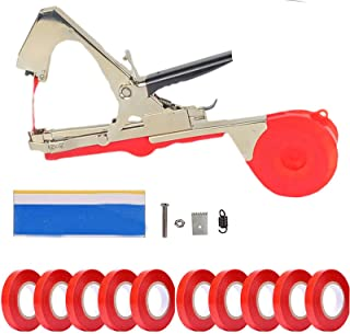 CXZ Plant Vine Tying Machine Tapener Tool, (Red) Garden Plant Tape Tool, with 10 Rolls Tapes and Replacement, for Grapes T...