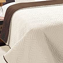 Dwustronna narzuta na łóżko 1-częściowa Vigo brązowa Ecru- 011, 220 x 240 cm