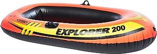قارب قابل للنفخ اكسبلورر 200، لشخصين من انتكس، برتقالي، 58330Ep، 73 انش × 37 انش × 16 انش