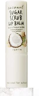 Too Cool For School Coconut Sugar Scrub Lip Balm - Natural Coconut Sugar, Coconut Water, Coconut Oil, exfoliating, Hydration