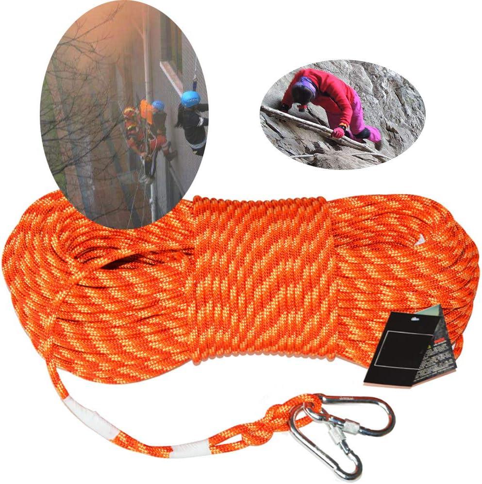 ZZKJNIU Cuerda Auxiliar para MontañIsmo: Cuerda De Seguridad ...