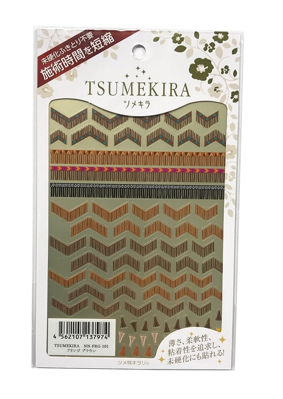 医療の同情的後ツメキラ(TSUMEKIRA) ネイル用シール フリンジ ブラウン NN-FRG-101