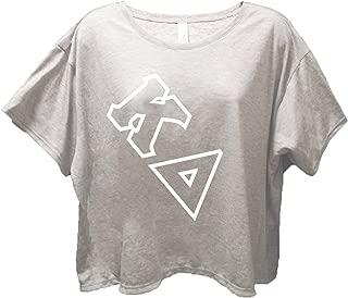Kappa Delta Sorority Gray Flowy Boxy Tee Shirt