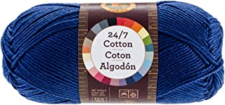 Lion Brand Yarn 761-110 24-7 Cotton Yarn, Navy