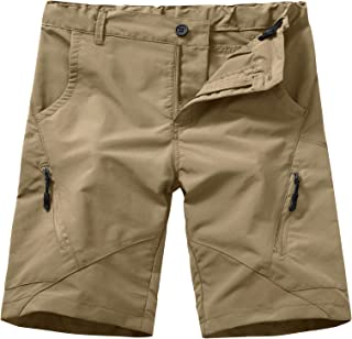 Kids Boy's Youth Hiking Casual Quick Dry Shorts, Lightweight Cargo Tatical Zipper Pockets Camping Travel Shorts