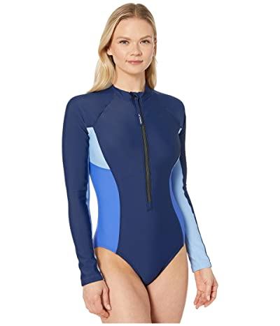 Speedo Zip Front Paddle Suit (Peacoat) Women