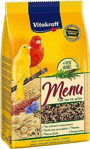 VITAKRAFT Menu Canaris - Alimentation Premium pour Oiseau - Sachet fraîcheur de 900gr