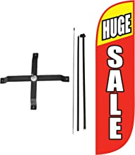 LookOurWay Huge Sale Feather Flag Complete Set with Poles & X-Stand, 5-Feet