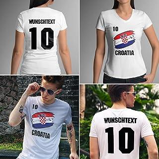 Croatia   Kroatien   Männer oder Frauen Trikot T - Shirt mit Wunsch Nummer  Wunsch Name   WM 2018 T-Shirt