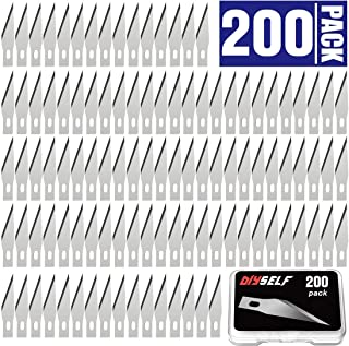 200 PCS Exacto Knife Blades, High Carbon Steel #11 Refill Exacto Art Blades Cutting Tool with Storage Case for Craft, Hobby, Scrapbooking, Stencil