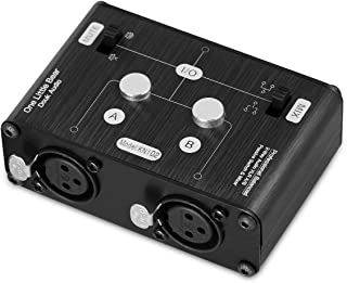 2 Way XLR Balanced Stereo Audio Switcher Passive A/B Mini Switch Box Mixer Sound Splitter (KN102, 2-IN-1-OUT)