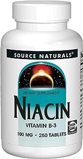 Source Naturals Niacin Vitamin B-3 100mg Supplement - 250 Tablets