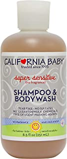 California Baby Super Sensitive Shampoo and Body Wash - Hair, Face, and Body | Gentle, Fragrance Free, Allergy Tested | Dr...
