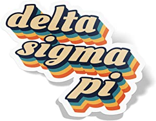 Desert Cactus Delta Sigma Pi 70's Letter Sticker Decal Greek Tall for Window Laptop Computer Car