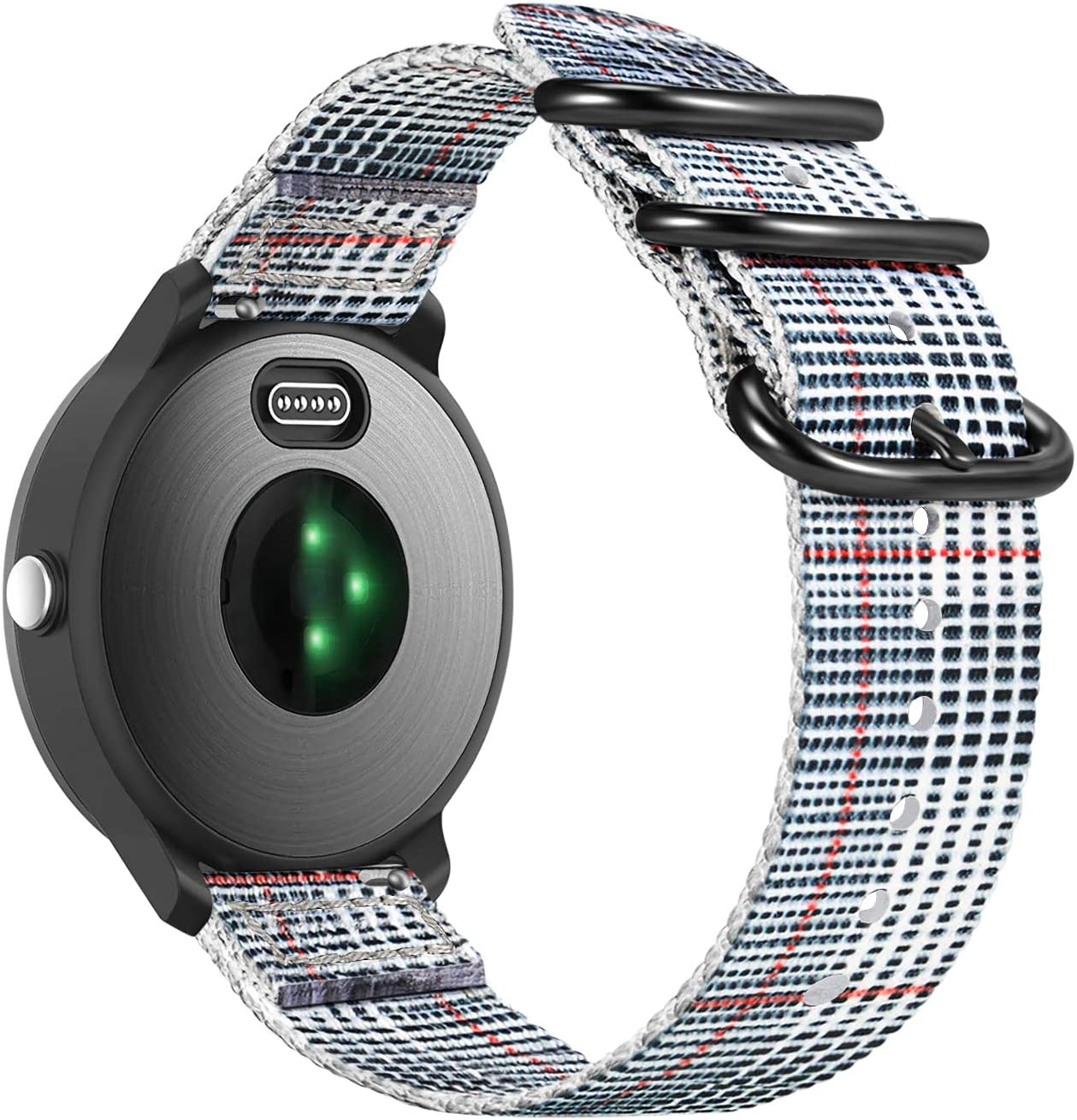 Color-B 20mm Soft Nylon Replacement Strap Band Compatible with Garmin Vivoactive 3 Fintie Band Compatible with Garmin Vivoactive 3 Vivoactive 3 Music//Forerunner 645 Music Smartwatch