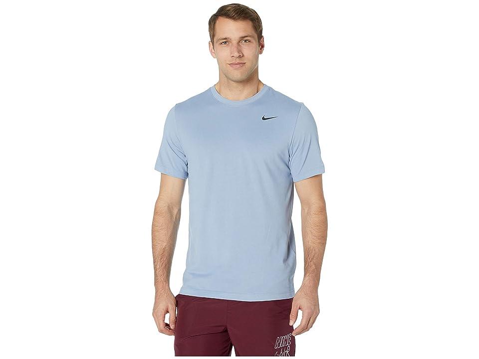 08ffd931 Nike Dry Tee Dri-FITtm Cotton Crew Solid (Indigo Fog/Light Armory Blue/Black)  Men's T Shirt