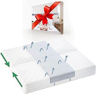Bedbinder Deluxe Cuña Unir Colchones Blanco 50cm. Detenga El Deslizamiento De Los Colchones con Esta Conector De Camas Y Unir Dos Colchones Banda para Unir Colchones Amor Puente