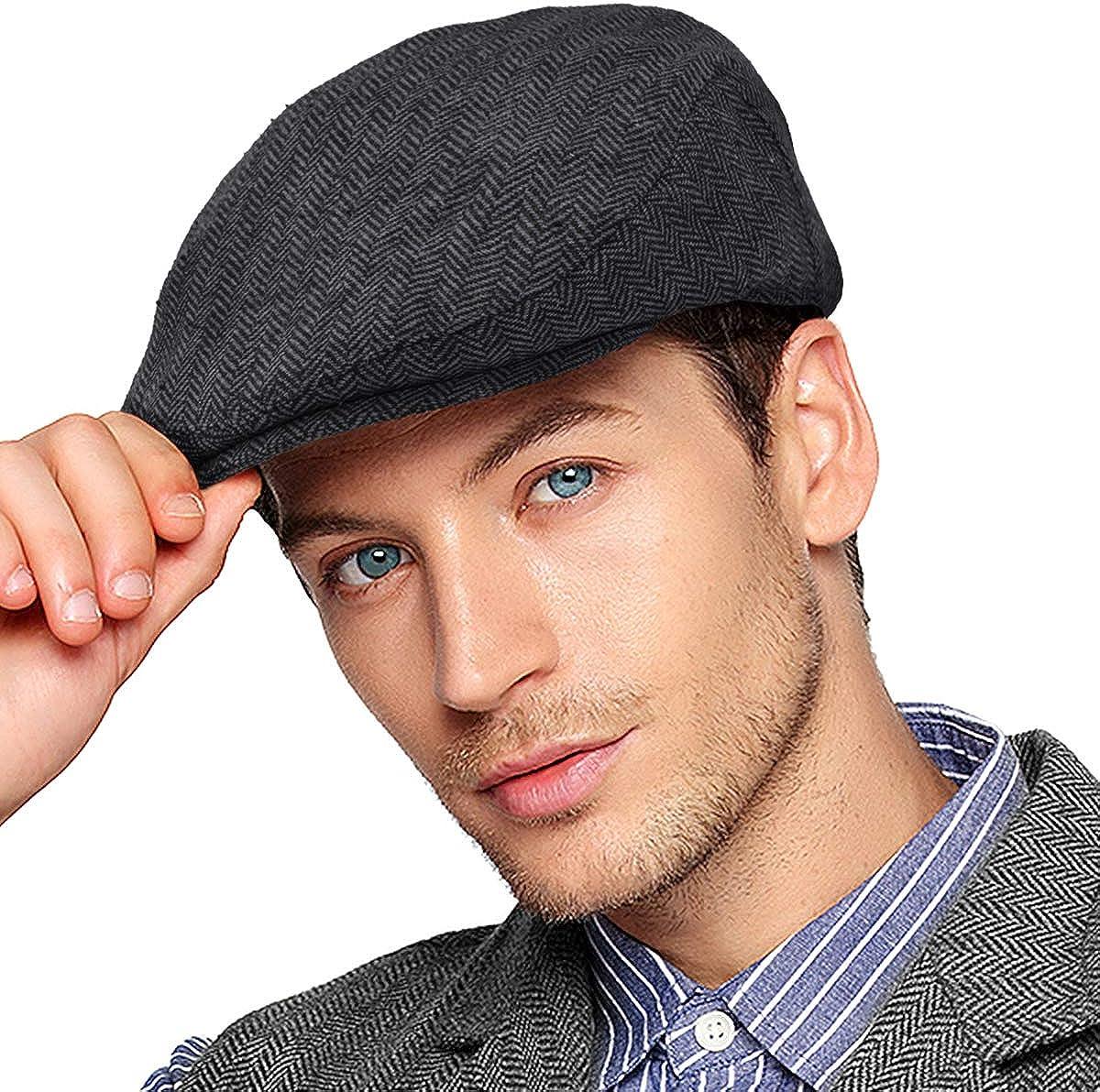 Men Ivy Gatsby Newsboy Cap - Blend Max 52% OFF Tweed Wool Flat Sale item C Classic