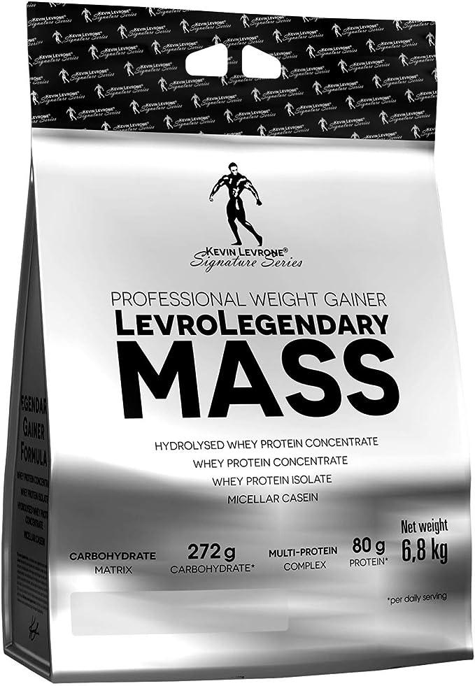 Kevin Levrone Legendary Mass Paquete de 1 x 6800g 6,8kg Gainer Proteína Polvo Ganancia de Masa Muscular Concentrado y Aislado de Proteína de Suero ...