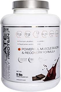 Z&m Hardcore Isolate Whey Protein Chocolate, 5 Lbs