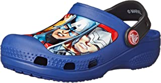 crocs Boy's CC Marvel Avengers III Clog Cerulean Blue Rubber Clogs and Mules