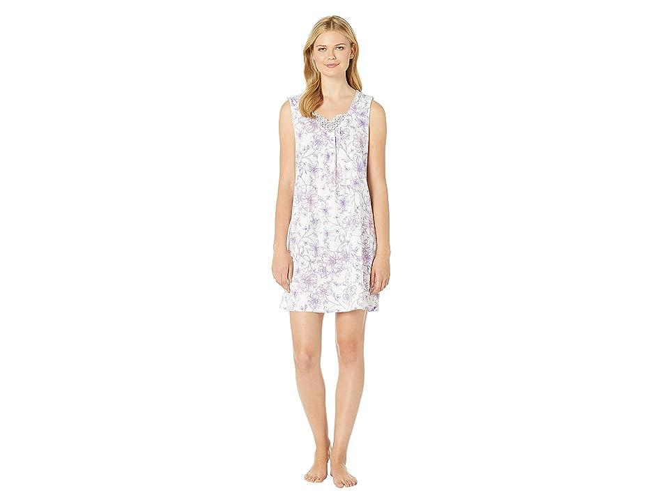 Carole Hochman Short Gown CH21704 (White Watercolor Floral) Women