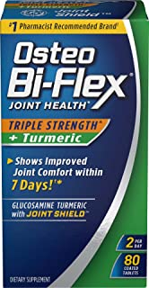 Osteo Bi-Flex, Triple Strength + Turmeric, 80 Tablets, Joint Support Supplements with Glucosamine HCI and Turmeric Curcumin, Joint Supplement for Men and Women