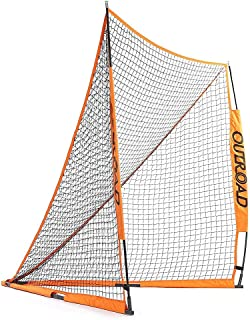 Outroad Portable 6x6 ft Official Folding Lacrosse Goal, Collapsible for Practicing Shooting Training Ice Hockey Net for Youth/Children ¡