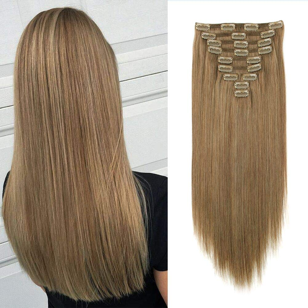 Lovrio 160g 20 売れ筋ランキング inch Clip in Weft まとめ買い特価 Human R Hair Double Extensions