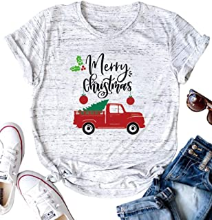 TAOHONG Kids Santa Graphic Christmas Shirt Children Cute Buffalo Plaid Cute Xmas Raglan Causal Holiday Tee Top