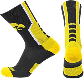 Large Iowa Hawkeyes Bar Stripe Vert Socks