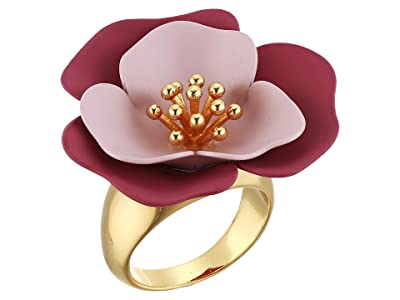Vince Camuto Flower Ring (Gold/Crystal/Soft Pink/Metallic Mauve) Ring