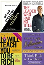 Good Strategy Bad Strategy, The Leader Who Had No Title, I Will Teach You To Be Rich, Secrets of the Millionaire Mind 4 Bo...