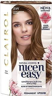 Clairol Nice 'n Easy Hair Color, Light Mocha Brown (6W), 2 pk