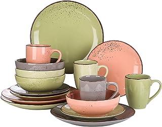 vancasso, Série Navia, Service de Table Complet en Céramique, 16 Pièces pour 4 Personnes, Assiette Faïence Style Moderne