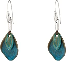 Patina Petal Drop Earrings