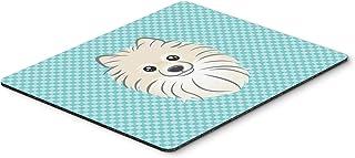Caroline's Treasures Checkerboard Blue Pomeranian Mouse Pad/Hot Pad/Trivet (BB1145MP)