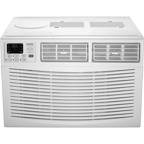 Amana 18,000 BTU 230V Window-Mounted Air Conditioner with Remote Control White